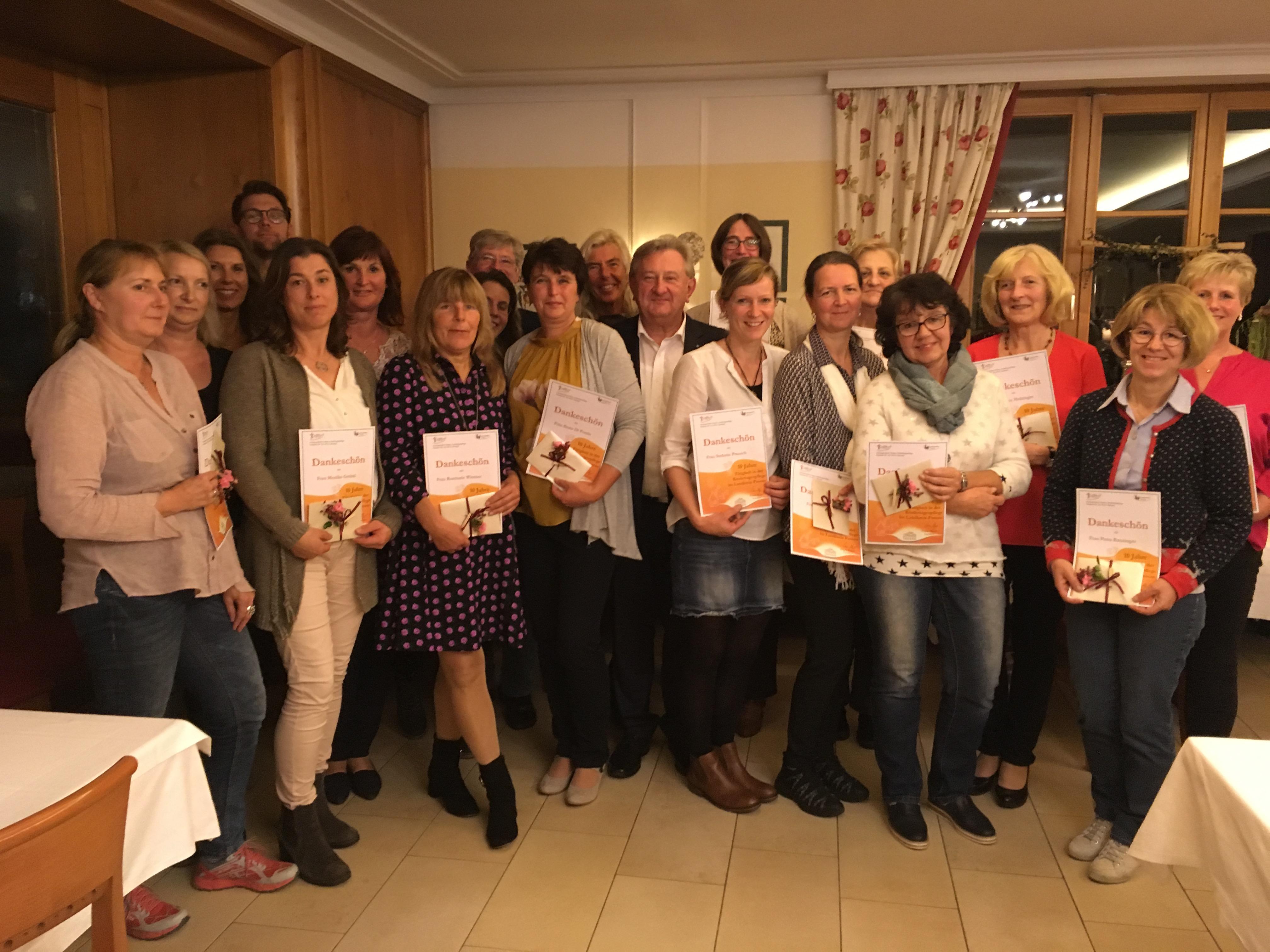 Anerkennung für die Tagespflegepersonen des Landkreises Passau durch den Landrat Franz Meyer